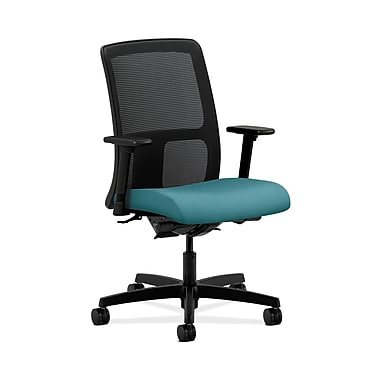 HON® Ignition Low-Back Mesh Task Chairs, Synchro-Tilt, Back Angle, Adjustable Arms, Glacier Fabric