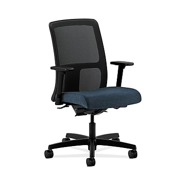 HON® Ignition Low-Back Mesh Task Chairs, Synchro-Tilt, Back Angle, Adjustable Arms, Blue Lagoon Fabric