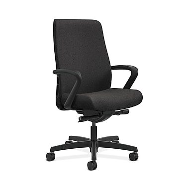 HON® Endorse Mid-Back Task Chairs, Fabric Outer Back, Built-In Lumbar, Synchro-Tilt, Seat Glide, Fixed Arms, Confetti Fabric