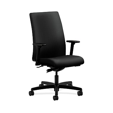 HON® Ignition Mid-Back Task Chairs, Synchro-Tilt, Adjustable Arms, Confetti Fabric