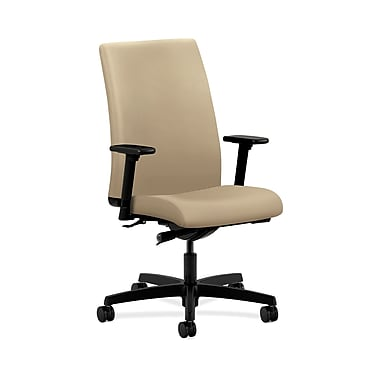 HON® Ignition Mid-Back Task Chairs, Synchro-Tilt, Adjustable Arms, Buff Fabric