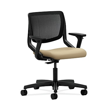 HON® Motivate Task Chairs, ilira®-stretch Back, Adjustable Arms, Buff Fabric