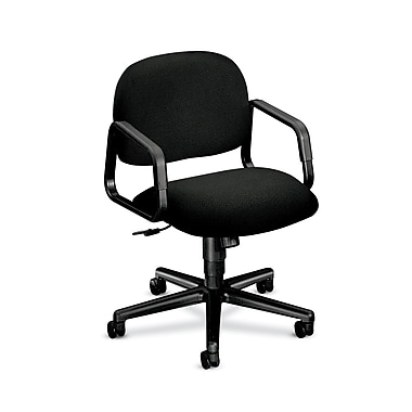 HON Solutions Seating Mid-Back Task Chairs, Center-Tilt, Fixed Arms, Olefin Fabric