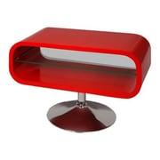 Hokku Designs Opod TV Stand; Red with Chrome Base