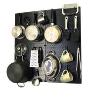 Wall Control Kitchen Organizer Pots & Pans Pegboard Pack; Black