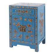 Abbyson Living Antique Asian End Table; Teal