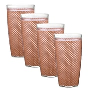 Kraftware Fishnet 24 Oz. Double Wall Tumbler (Set of 4); Orchid