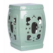 Abbyson Living Asian Ornate Glazed Garden Stool