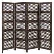 Cole & Grey 72.83'' x 80'' Loft Wood Screen 4 Panel Room Divider