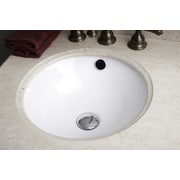 American Imaginations American Imaginations Undermount Bathroom Sink; White