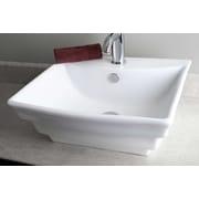 American Imaginations Above Counter Vessel Bathroom Sink; Polished Aluminum