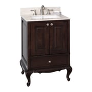 American Imaginations 23'' Traditional Birchwood-Veneer Vanity Base; Brushed Nickel