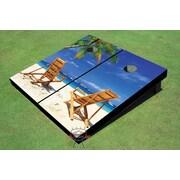 All American Tailgate Beach Chair Twins Cornhole Board (Set of 2)