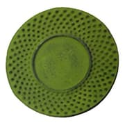 Creative Home Cast Iron Round Trivet; Green