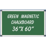 NeoPlex Magnetic Wall Mounted Chalkboard; 3' H x 5' W