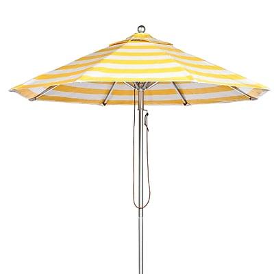 Frankford Umbrellas 11' Market Umbrella; Yellow and White Stripe WYF078277684093