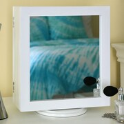 Wholesale Interiors Wessex Dual Sided Tabletop Mirror; White
