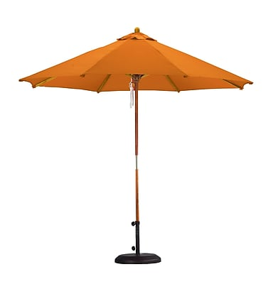 California Umbrella 9' Market Umbrella; Polyester Tuscan WYF078277682064