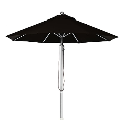 Frankford Umbrellas 9' Market Umbrella; Black WYF078277683159