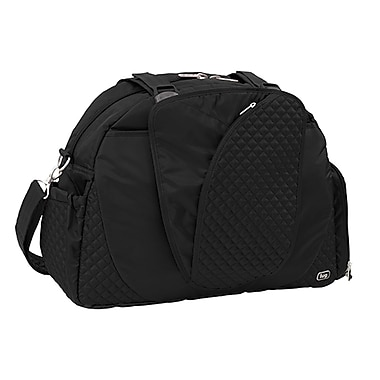 Lug Cartwheel Overnight/Gym Bag, Midnight Black