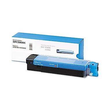 DATAPRODUCTS® Reman Cyan Toner Cartridge, OKI C5500/C5800, High Yield (DPC5800C)