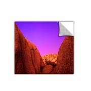 "ArtWall 'Jumbo Rocks Afterglow' Art Appeelz Removable Wall Art Graphic 14"" x 14"" (0uhl055a1414p)"