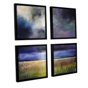 "ArtWall 'Glory Light' 4-Piece Floater Framed Canvas Square Set 48"" x 48"" (0gro015e4848f)"