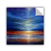 """ArtWall 'Inspiration Beach 2' Art Appeelz Removable Wall Art Graphic 14"""" x 14"""" (0gro018a1414p)"""