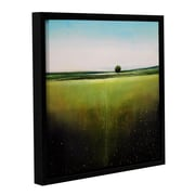 """ArtWall 'Modern Day' Gallery-Wrapped Canvas 18"""" x 18"""" Floater-Framed (0gro028a1818f)"""