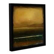 """ArtWall 'Moody Landscape' Gallery-Wrapped Canvas 14"""" x 14"""" Floater-Framed (0gro031a1414f)"""