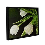 """ArtWall """"White Tulips"""" Gallery-Wrapped Canvas 24"""" x 32"""" Floater-Framed (0gro056a2432f)"""