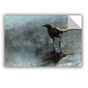 "ArtWall ""Bird In A Puddle"" Art Appeelz Removable Wall Art Graphic 16"" x 24"" (0goa041a1624p)"