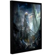 """ArtWall 'Industrialize' Gallery-Wrapped Canvas 14"""" x 18"""" Floater-Framed (0str011a1418f)"""