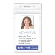 "Advantus® PVC-Free Badge Holders, Clear, 3"" x 4"", 50/Pack (AVT-75604)"