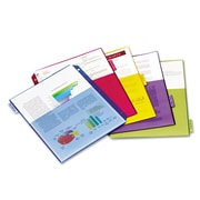 Cardinal® Poly Index Dividers, Poly, Multicolor, 11 x 8 1/2, 5-Tab, 4/Pack (84003)