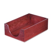 Carver™, Hardwood Legal Stackable Desk Tray, Mahogany, Each (CW08223)