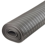 "Crown Ribbed Vinyl Anti-Fatigue Mat, 36"" X 120"", Indoor, Gray (FL 3610GY)"