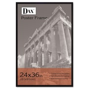 DAX® Flat Face Poster Frame, Wood, 24 x 36, Black, Each (286036X)