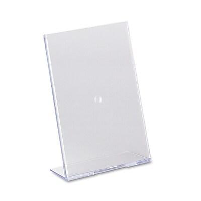 """""""""""deflecto Slanted Desktop Sign Holder, Plastic, 5"""""""""""""""" x 7"""""""""""""""", Each (590301)"""""""""""" DEF590301"""