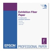 Epson® Exhibition Fiber Paper, 17 x 22, White, Each (S045039)