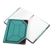 """Boorum & Pease® Record Book with Blue and Red Cover, Record, 7.6"""" x 9.6"""", Blue/Red (37 3/8-300)"""