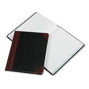 "Boorum & Pease® Journal with Black and Red Cover, Record and Account, 7.7"" x 9.75"", Black/Red (38-150-R)"