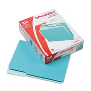 Pendaflex® Interior File Folders, Letter, Aqua, 100/Box (421013AQU)