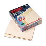 Pendaflex® CutLess®/WaterShed® File Folders, Letter, Manila, 100/Box (48430)