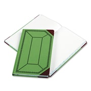 "Boorum & Pease® Record and Account Book with Green and Red Cover, Record and Account, 7.7"" x 12.5"", Green/Red (67 1/8-300-R)"