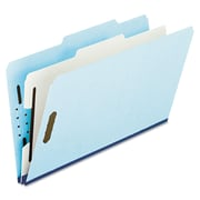 Pendaflex® Four- and Six-Section Classification Folders, Top Tab, Blue, 10/Box (930025RCP1)