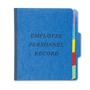 Pendaflex® Personnel Folders, 1/3 Cut Tab, Blue, Each (SER-1-BL)