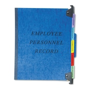 Pendaflex® Personnel Folders, 1/3 Cut Tab, Blue, Each (SER-2-BL)