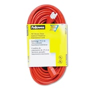 Fellowes® Indoor/Outdoor Heavy-Duty Extension Cord, 3-Prong, 50 ft, Orange, Each (99598)