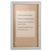 "Ghent Enclosed Outdoor Bulletin Board, Light Brown, 24"" X 36"" (PA13624VX-31)"